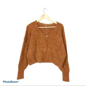Free People finders keepers V-Neck crop sweater S